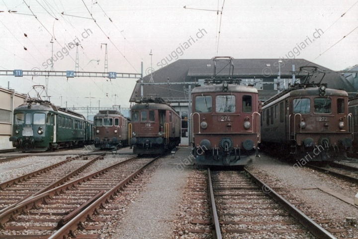 BLS Be 4/4 762, Re 4/4 181, Ae 6/8 205, Ae 8/8 274 e 272
